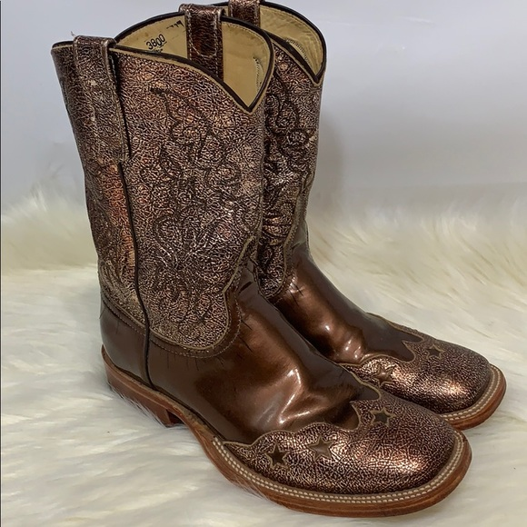 Anderson Bean Shoes - Anderson Bean Custom metallic bronze leather boots
